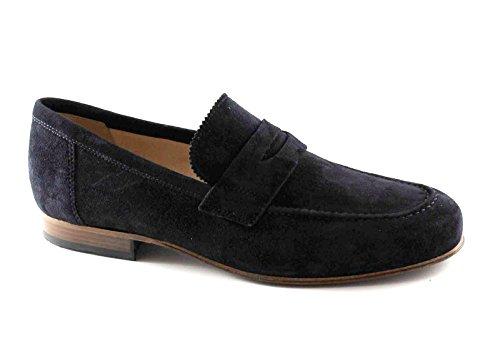 4880 Elegante Blu Negro Del Holgazanes Jardines Universidad Nero Azules Giardini Zapatos Hombre BwzqwgCt