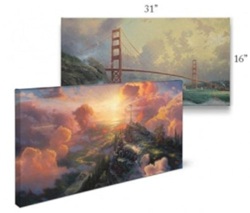 Thomas Kinkade 16 X 31 Gallery Wrapped Canvas Thomas Kinkade Company 59888 Gone with the Wind