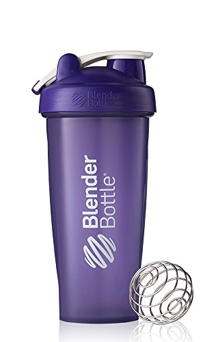 BlenderBottle Classic Loop Top Shaker Bottle, Purple/Purple, 28-Ounce Loop Top