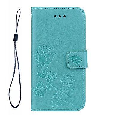 Fundas y estuches para teléfonos móviles, Para el iphone 7 más 7 rosas caja de cuero material del teléfono de la PU de la cuerda de la mano del patrón de la mano del patrón 3D para ( Color : Gris , Mo Gris
