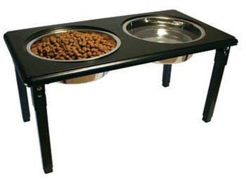 (POSTURE-PRO Adjustable Double Diner, Black, 3-Quart by Ethical Pet)
