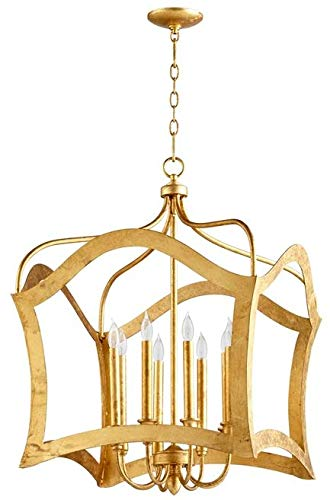 Cyan Design Pendant Chandelier Milan 8-Light Gold Leaf Iron New Candelab