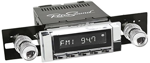 RetroSound HC-111-04-74 Hermosa Direct-Fit Radio for Classic Vehicles (Chrome Face and Buttons and Chrome Bezel) ()