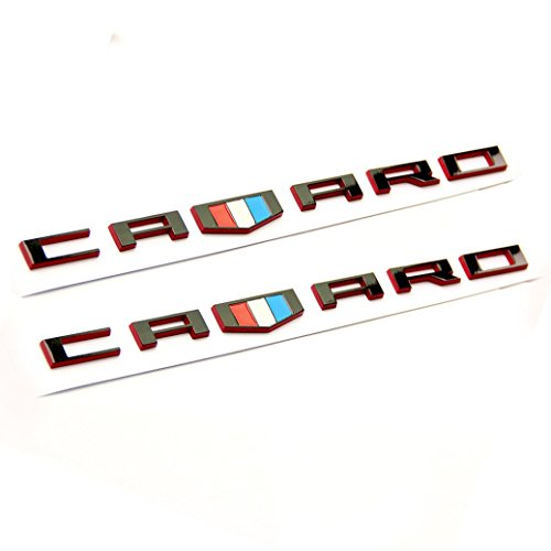 Yoaoo® 2x Genuine CAMARO Letter Emblem 3D Badge GM Chevy OEM Black Red Line Series