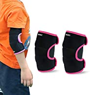 ONT Kids Elbow Pads Support Adjustable Children Elbow Brace Protector with SBR Pad Guard Wraps for Cycling Dan