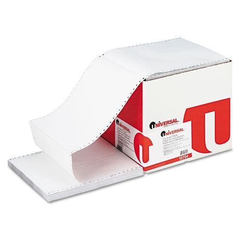Universal Products - Universal - Computer Paper, 3-Part Carbonless, 15lb, 9-1/2 x 11, White, 1100 Sheets - Sold As 1 Carton - High quality computer printout paper at an economical price. - Acid-free. -