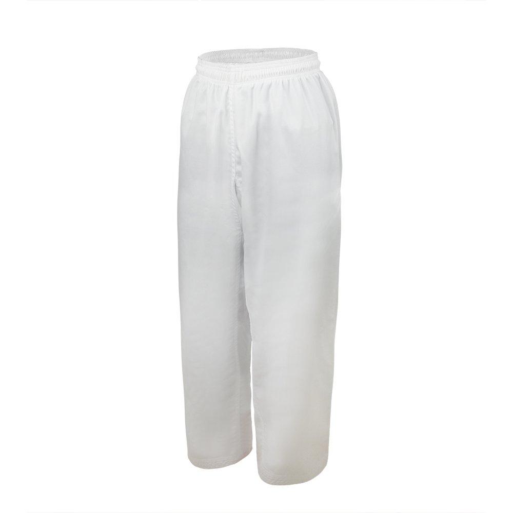 TopTie Kids Karate Pants Middleweight Elastic Taekwondo Uniform Teen Black White