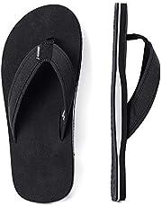 ALEADER Mens Flip Flops Arch Support Sandals for Beach, Casual, Outdoor & Indoor