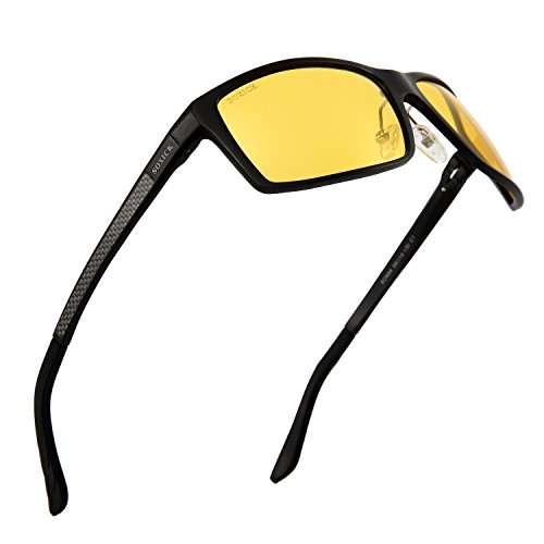 Anti-Glare Polarized Yellow Lens Day & Night Driving Glasses for Men & Women (black, - Glasses Lens One
