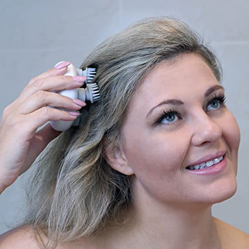HaoToning Electric Scalp Massager, Head Scratcher Mimics Four-Finger Kneading Massage, Rechargeable & Waterproof, Pets Massager