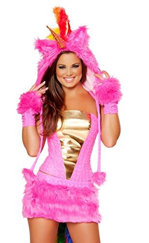 [J. Valentine Women's Hot Pink Unicorn Costume, Pink/Multi, Medium] (J Valentine Unicorn Costume)