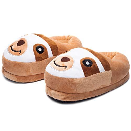 Bambini Novità Carattere 3D BRADIPO Pantofole peluche ciabatte babbucce Regalo Di Natale Taglia