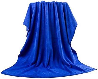 CQIANG カーウォッシュタオル、ビッグバスタオル、ビーチタオル、スパタオル、無リントスーパー吸収性の厚いタオル、ブルー/パープル (Color : Blue)