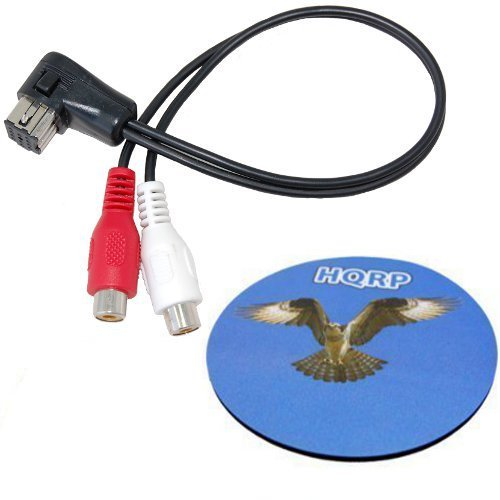 Xm Pioneer Aux Input - HQRP IP-Bus Aux Input RCA Cable replacement for Pioneer CD-RB10 plus HQRP Coaster