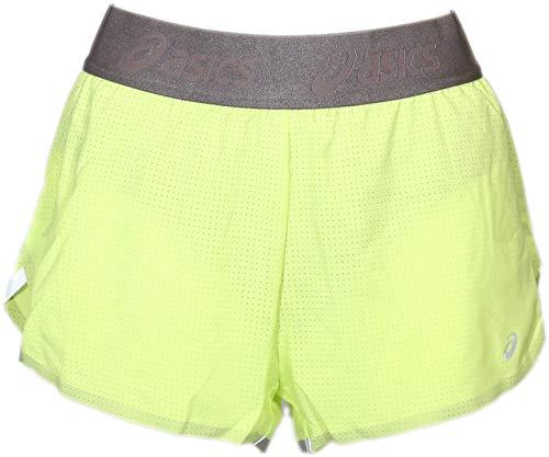 ASICS Women's Fuzex Split Shorts, Pistachio, Medium (Womens Split Running Shorts)