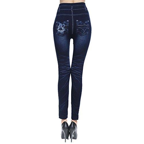 femme taille XL Gnrique fonc grande jean MagiDeal haute S jean slim taille bleu wx4IxZq