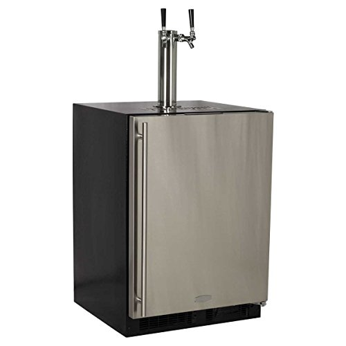 Marvel Half Keg Beer Dispenser (Marvel ML24BTS2RS Twin Tap Built-In Beer Dispenser with Right Side Hinge, 24