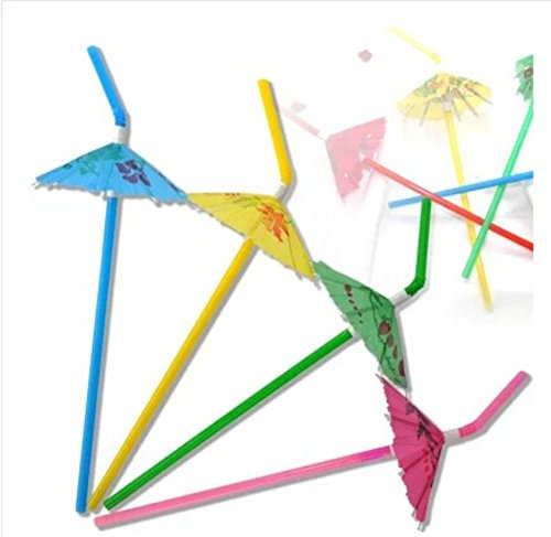 Cheap  50 Pack Party tonight Cocktail Party Umbrella Tropical Drink Straws - Great..