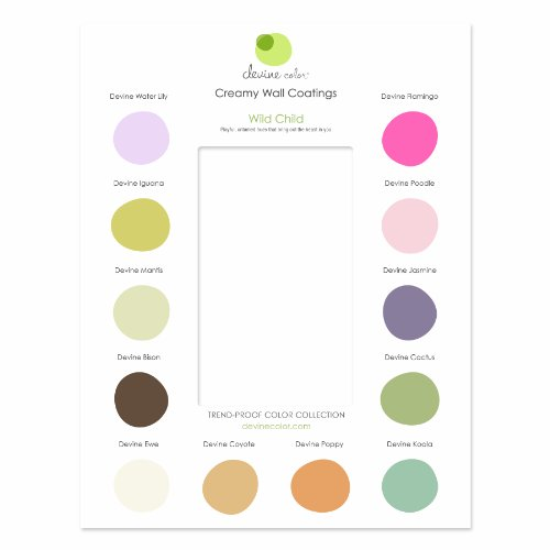 Devine Color Interior Paint Discovery Card, Wild Child