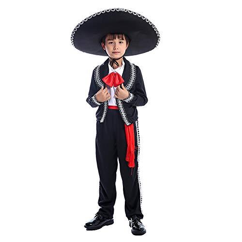 yolsun Boy's Mexican Mariachi Charro Costume (M(Suggest 48
