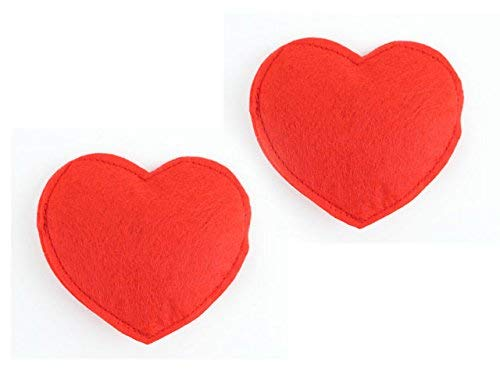 (Imperial Cat Red Felt Heart Catnip Toy, Pack of 2 )