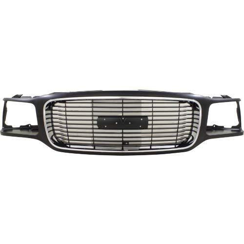 Garage-Pro Grille Assembly for GMC YUKON 92-00 Chrome and Black w/Denali Pkg