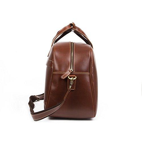 BAIGIO Herren Handtasche Laptoptasche Businesstasche arbeitstasche ledertasche Schultertasche Studententasche Umhängetasche aus eschtem Leder Groß Praktisch Tasche, Koffee
