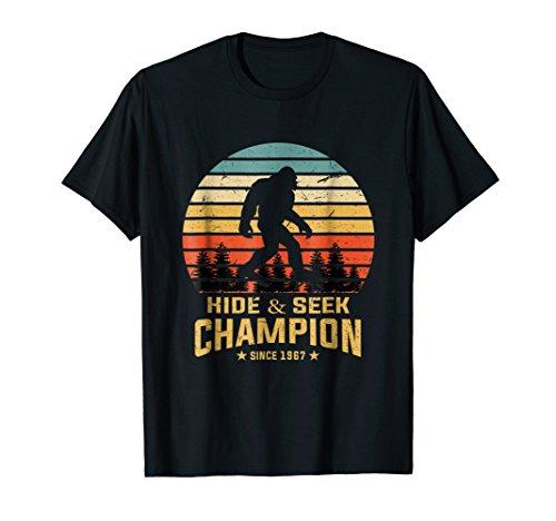 Hide and Seek World Champion T-Shirt Bigfoot Retro Vintage]()