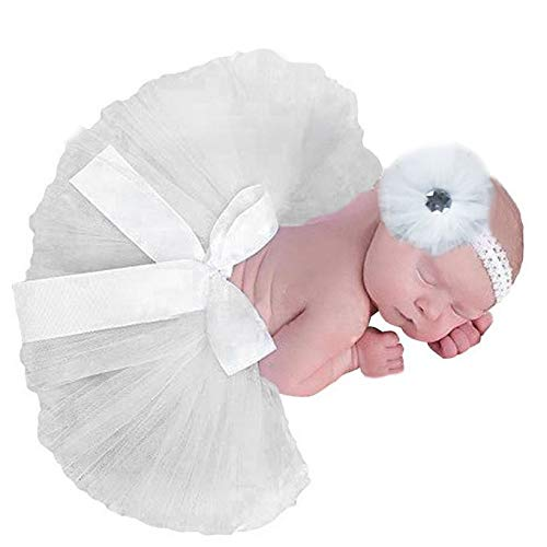 Newborn Baby Girl Photo Shoot Props Lovely Costume Tutu Dress Flower Headband Photography Props -