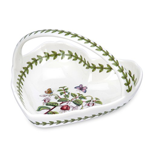 Portmeirion Botanic Garden Heart Shape Basket, Small