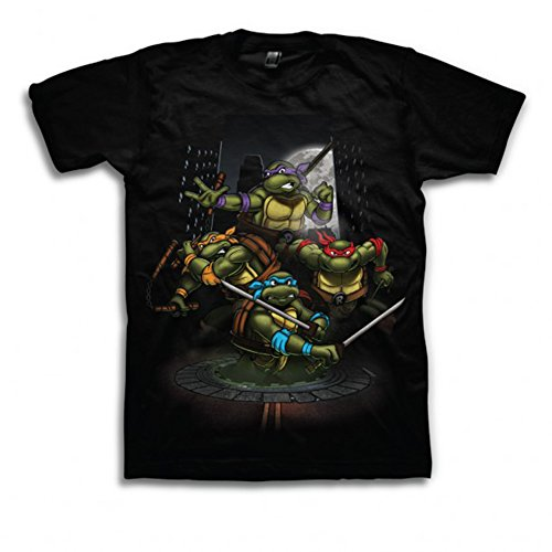 FREEZE TMNT Group Night Time Attack Adult T-Shirt (X-Large) -