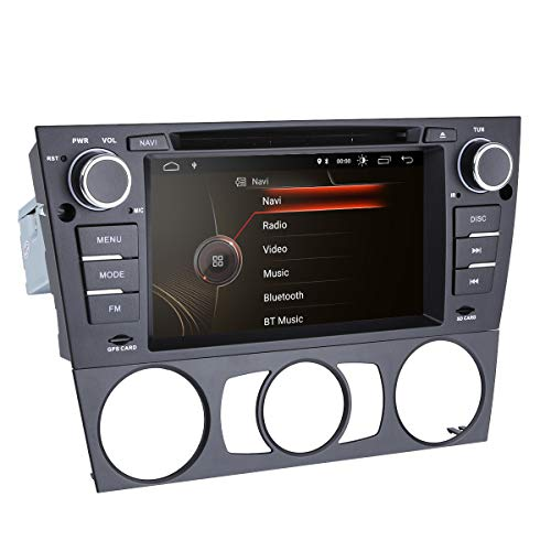 hizpo Android 9.0 Quad Core 7 Inch Car Stereo Multi-Touch Screen Radio CD DVD Player 1080P Video Screen for BMW E90/2006-2011 E91/2006-2011 E92/2006-2011 E93