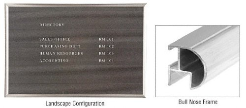 C.R. LAURENCE FLB15BN CRL Brushed Nickel Wall Mounted Framed Letter Board by CR Laurence