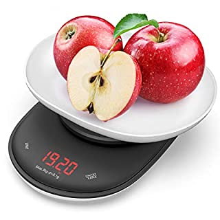 Nicewell Precise 0.1g 0.1oz Accuracy Digital Kitchen Food Scale 6.6lb Max Grams and Oz Capacity Range from 0.01oz to 106oz (3kg), Batteries Included