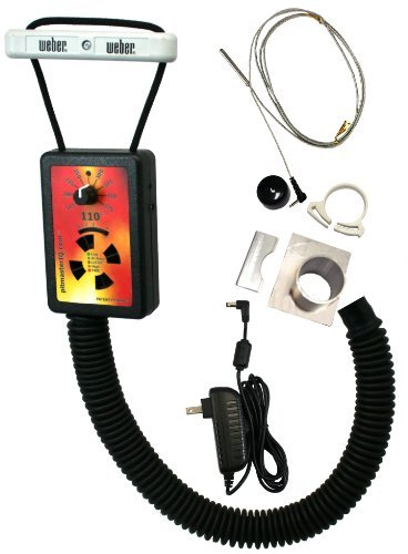 IQ110 BBQ Temperature Regulator Kit with Small Adjustable Kamado Pit Adapter for Big Green Egg (Small, Mini), Char-Griller Akorn, Kamado Joe Jr., and Many Other Small Kamado -