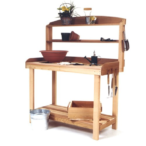 potting bench cedar - 6
