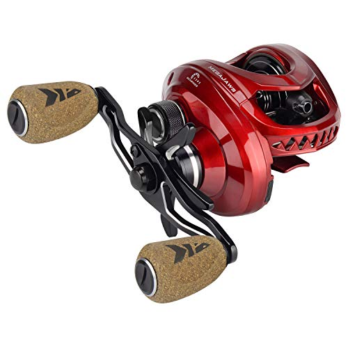 KastKing MegaJaws Baitcasting Reel,9.1:1 Gear Ratio,Right Handed Reel,Predator Red