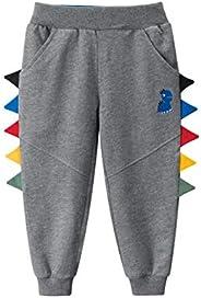 ROWEY Little Boys Jogger Pants Toddler Kids Elastic Sweatpants Boys Cotton Sport Pants