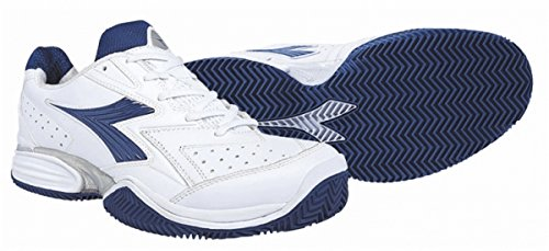 Diadora S. TECH CLAY weiss-blau Herren Sandplatz Tennisschuh EU 49