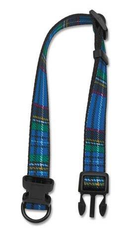 Ancol Adjustable Nylon Dog Collar - Blue Tartan