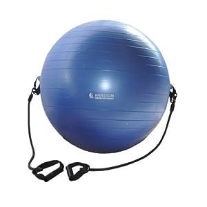 Hansson.Sports Anti-Burst Gymnastikball mit Fitnessbändern inkl. Pumpe 65cm -...