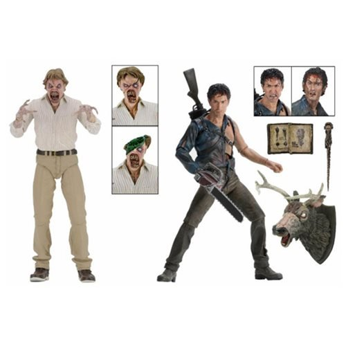 NECA Evil Dead 2 (30th Anniversary)Boxed Set 7 Scale Action Figures  Hero Ash and Deadite Ed