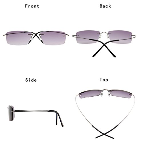 5d5c192ac760 LianSan Womens Mens Designer Titanium Sunglasses Readers Lightweight  Fashion Magnifier Reading Glasses with case 1.5 2.0