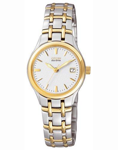 Citizen EW1264-50a - Reloj analógico de cuarzo para mujer, correa de acero inoxidable