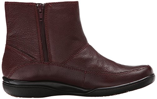 Clarks Kearns Flamme Stiefel Burgundy Lined Leather