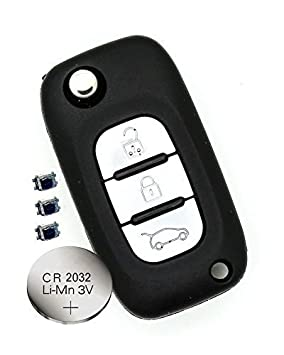 Heart Horse 3 Buttons Car key Case Fob Replacement Remote Control Compatible with Renault Clio Megane kangoo Modus with blade