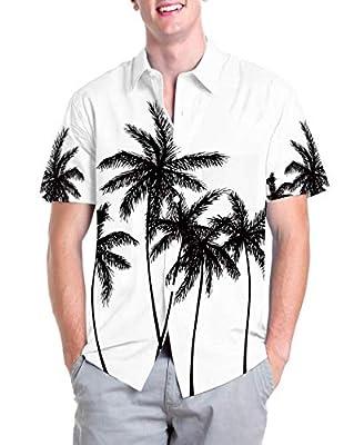 Hawaiian Shirts for Men Button Up - Funny Short Sleeve Button Down Aloha Shirts