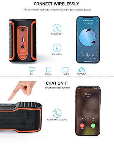 AOMAIS-Sport-II-Portable-Wireless-Bluetooth-Speakers-40-Waterproof-IPX7-20W-Bass-Sound-Stereo-Pairing-Durable-Design-Backyard-Outdoors-Travel-Pool-Home-Party-Orange
