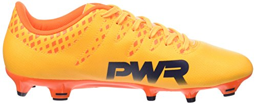Puma Herren evoPOWER Vigor 4 FG Fußballschuhe, 46 EU Orange (Ultra Yellow-Peacoat-Orange Clown Fish 04)