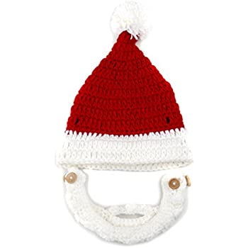 e6d447246d7 Amazon.com  Red and White Beanie with Beard - Boy Girl Toddler Kid ...